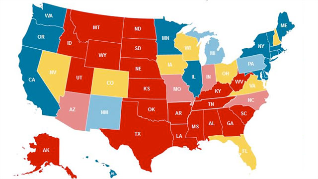"CNN Electoral Map: Wisconsin moves to true ""toss up"""