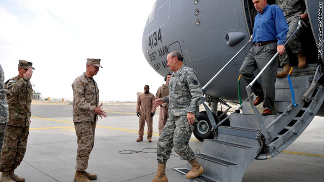Shrapnel hits Dempsey's plane at Afghan base