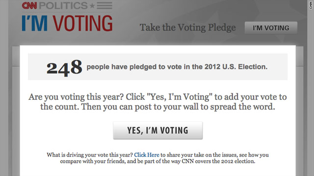"CNN and Facebook ""I'm Voting"" app now available"
