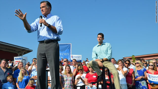 Romney-Ryan rally aims to get back campaign back on message