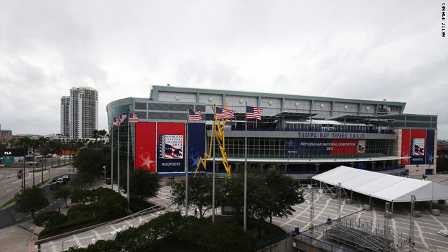 Romney camp says weather won't affect convention plans