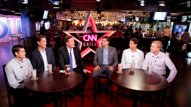 Spotted at the CNN Grill: the Romney Bros.