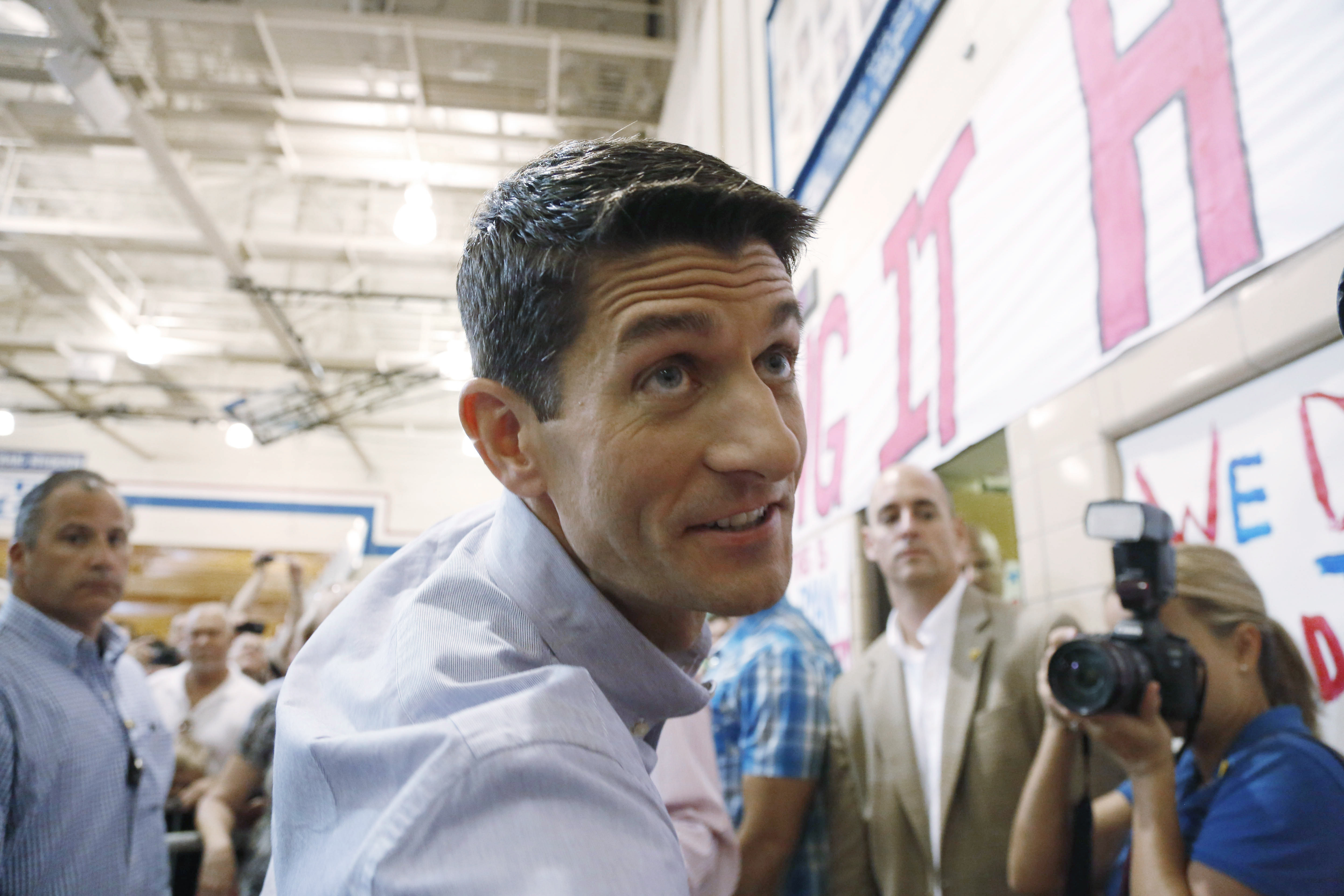 All eyes on Paul Ryan as GOP enters day two of convention