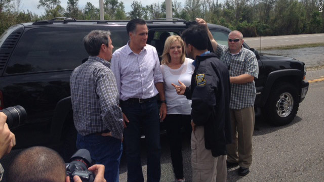 Romney tours storm damage in Louisiana