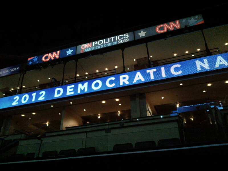 Photo: CNN Preparations at the DNC