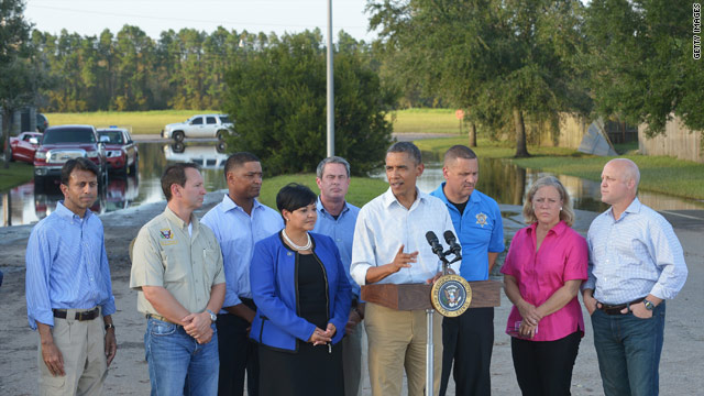 Obama praises New Orleans' resilience on tour of storm damage