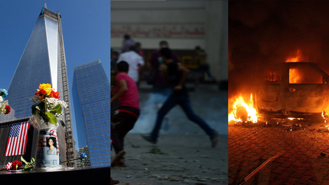The AC360 Weekly Buzz: Anti-American protests spread in the Middle East, Sept. 11 fund adds cancer, sexual assault victim tweets attackers' names, Wolf's glasses