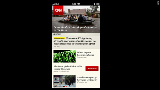 CNN App for iPhone 5 Hits the App Store