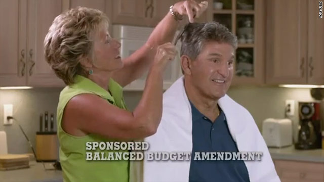 Manchin gets a cheap haircut in political ad