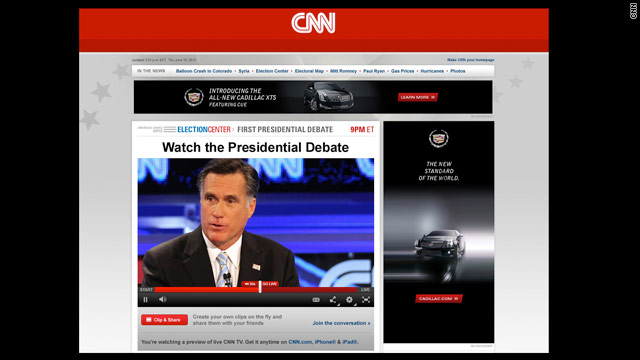 Users tune into CNN TV coverage of debate online