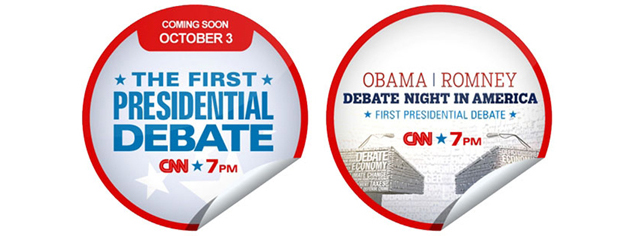 Check-in on GetGlue for CNN 'Debate Night in America' Stickers
