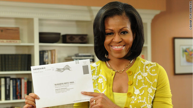 First Lady casts early ballot