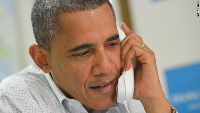 President Obama calls long distance