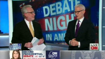 Wolf Blitzer and Anderson Cooper's glasses