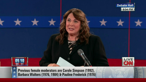 Candy Crowley on the second presidential debate