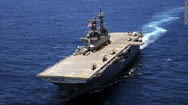 Navy moving helicopter carriers to New York and New Jersey coasts