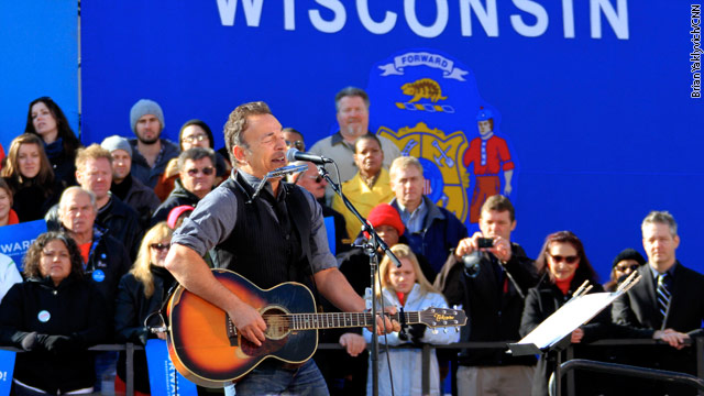 Springsteen energizes Obama&#039;s final sprint