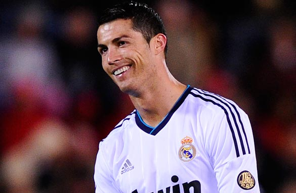 Should the free-scoring Cristiano Ronaldo smile more often? (Getty Images)