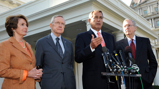 Congressional leaders strike postive tone after &quot;constructive&quot; White House meeting