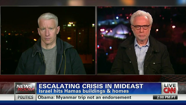 Blitzer, Cooper Travel to Middle East to Report on Israel-Gaza Conflict