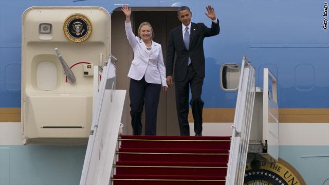Detour at beginning of Hillary Clinton's farewell tour