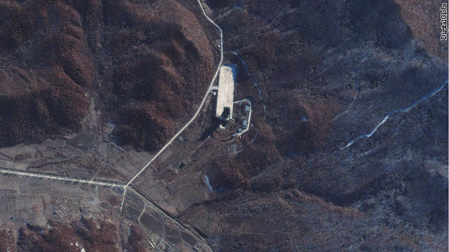 Satellite image shows activity at North Korea launch site