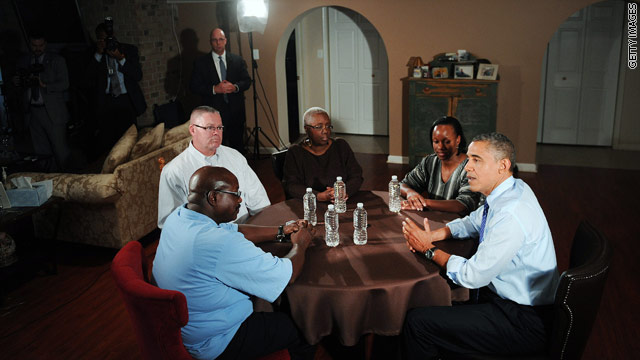 Obama visits 'middle class' family in latest fiscal cliff gambit