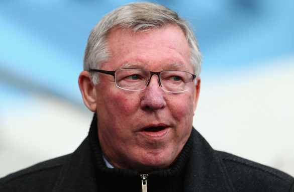 Manchester United manager Alex Ferguson was furious with Ashley Williams for kicking the ball at Robin van Persie's head.