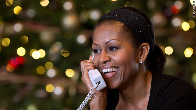First lady tracks Santa, too