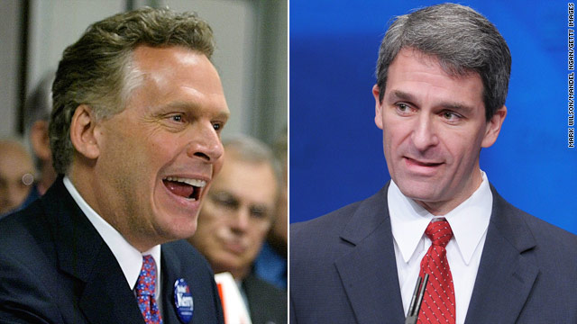 Democrat McAuliffe up in Va. governor's race