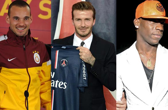 Wesley Sneijder, David Beckham and Mario Balotelli all feature in Pedro's picks.