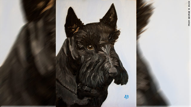 Immortalized on canvas: Former White House pooch dies