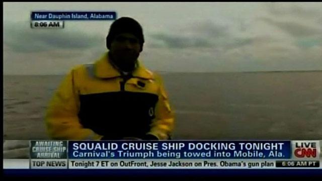 CNNCoverage: Carnival Triumph Cruise Ship Arrival