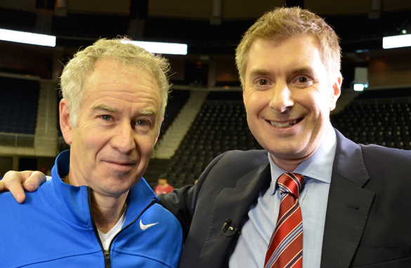 CNN&#039;s Don Riddell interviewed U.S. tennis legend John McEnroe for the Open Court show.