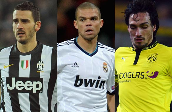Leonardo Bonucci, Pepe and Mats Hummels are on Pedro's shortlist (Getty Images).
