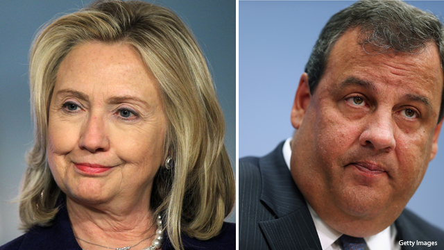 Poll: Clinton, Christie fare best in possible 2016 showdowns