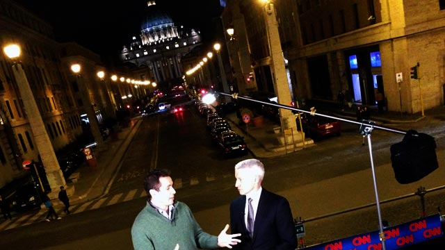 Tonight on AC360: Anderson Cooper reports live from Rome
