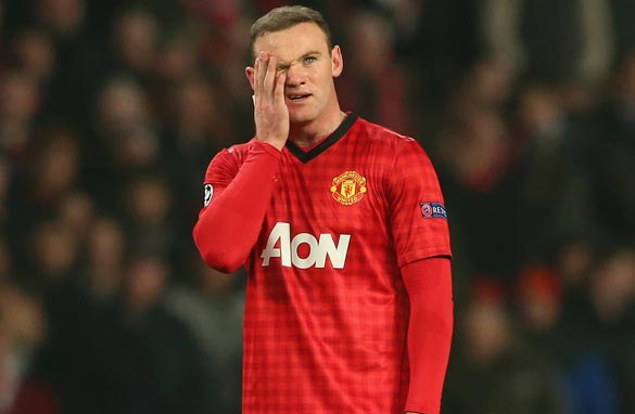 Wayne Rooney played a bit part as Manchester United were beaten by Real Madrid (Getty Images).