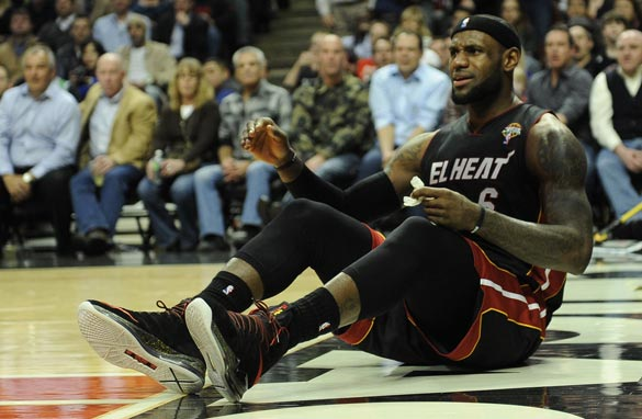 LeBron James and the Miami Heat were six games short of the NBA's winning streak record. (Getty Images).
