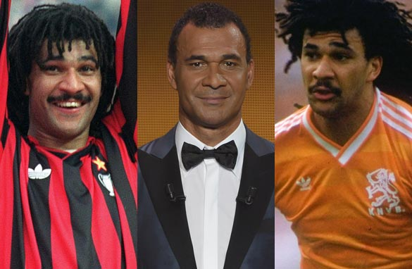 Ruud Gullit (right), this week's guest on CNN FC, won back-to-back European titles with AC Milan. (Getty Images).