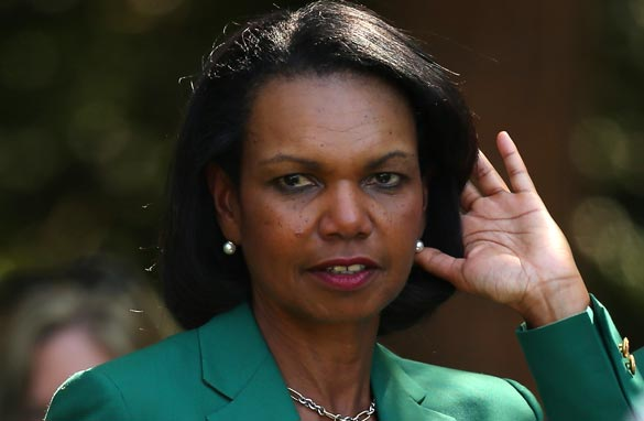 Condoleezza Rice  id one of two female members at Augusta. (Getty Images).