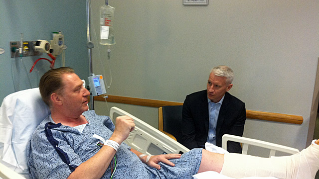 Tonight on AC360: Boston bombings victim: I feel lucky