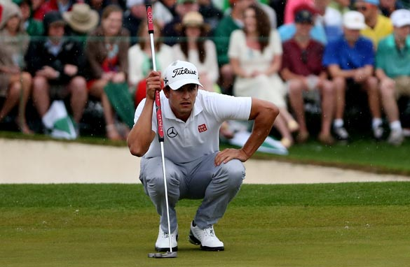Adam Scott's broomhandle putter was one of the big talking points at Augusta. (Getty Images).