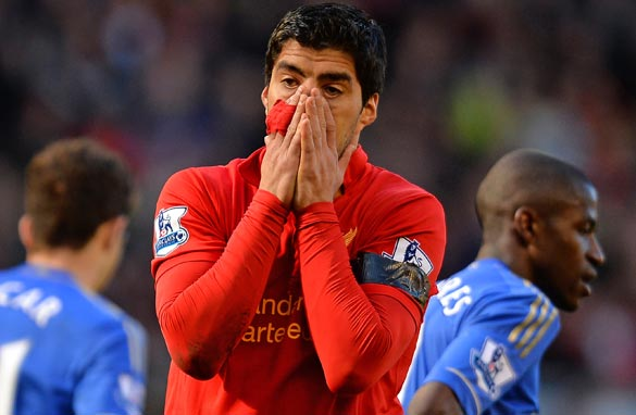 Does Luis Suarez's lofty status mean he should set a better example? (Getty Images).