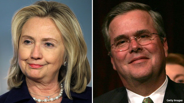 Hillary, Jeb in spotlight before Bush library dedication