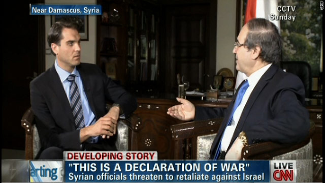 Syrian officials speak exclusively to CNN's Fred Pleitgen
