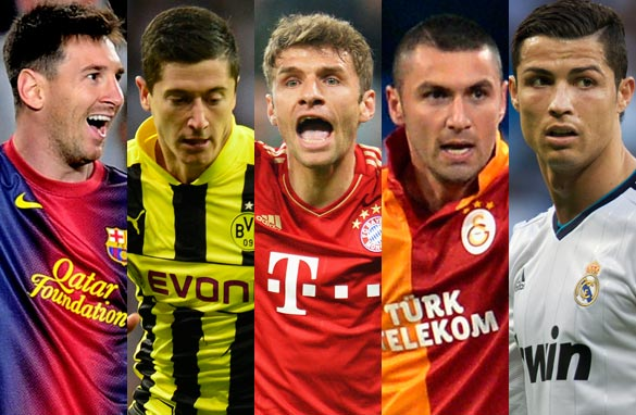 Which of these five players has been the 2012/13 Champions League&#039;s MVP? (Getty Images)