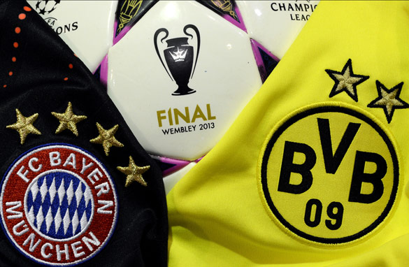 Bayern Munich face Borussia Dortmund in the first ever all-German final of the Champions League on May 25th.