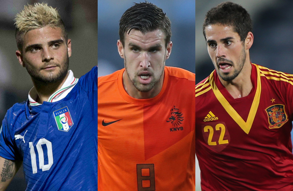 Lorenzo Insigne, Kevin Strootman and Isco have all made an impression in Israel (Getty Images).