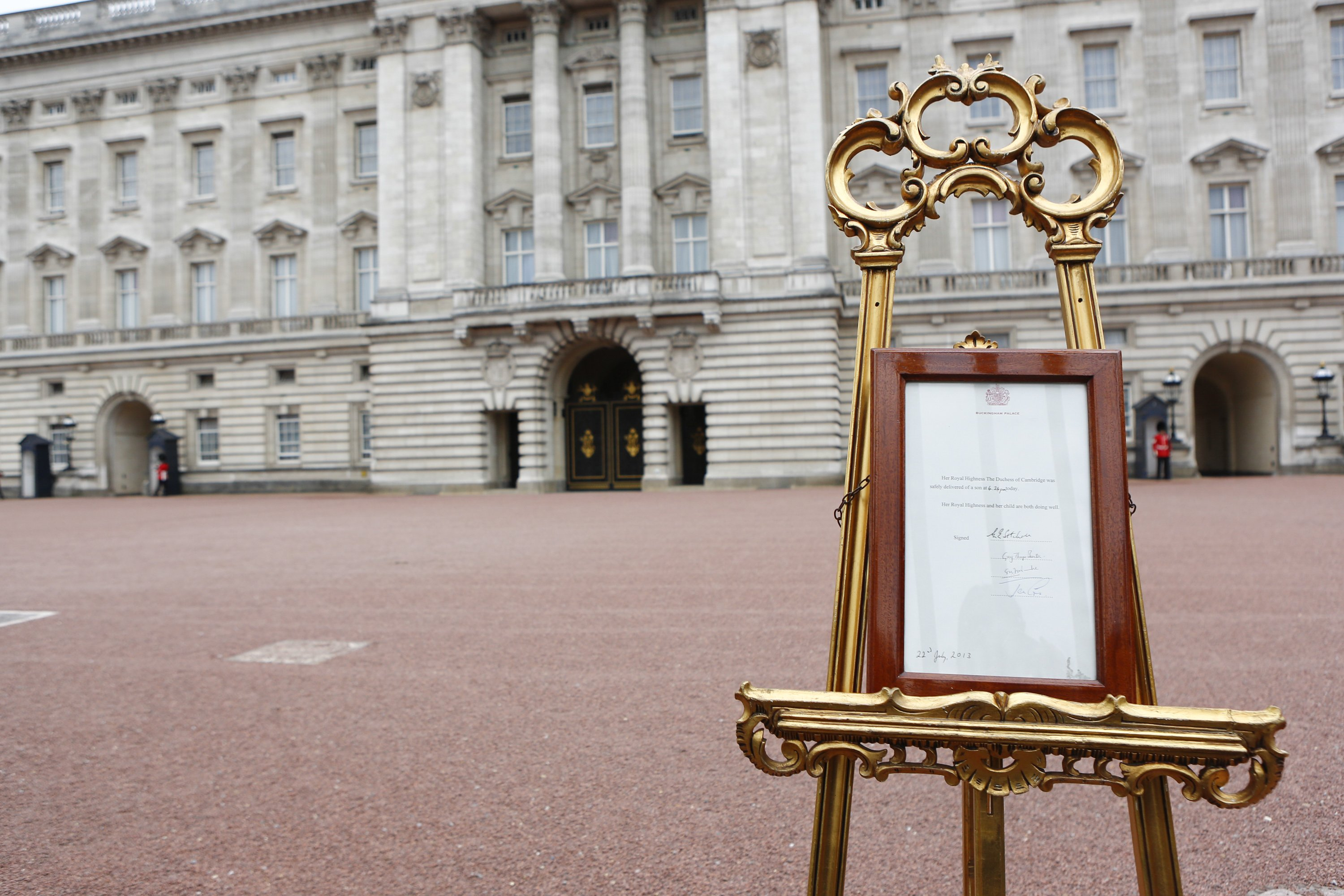 Reporting from Buckingham Palace